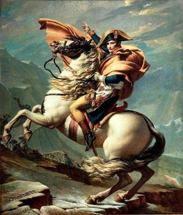 Napoleone attraversa le Alpi, dipinto di Jacques-Louis David - da Wikipedia