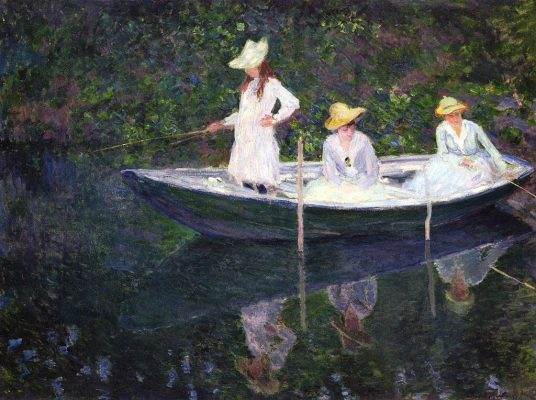 La barca a Giverny. Claude Monet, 1887 - da Wikipedia