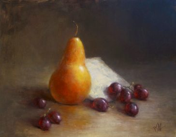 Pear, Grapes & Gorgonzola - (www.lamyadeeb.com)
