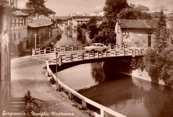 Ponte di Cadrigo negli anni '60 - Foto dal sito ProLoco Gorgonzola - www.prolocogorgonzola.it
