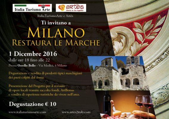 Milano Restaura le Marche - locandina evento