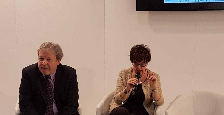 """Umberto Curti e Luisa Puppo di Ligucibario alla presentazione:  """"La birra dell'Oltrepò sposa il pesto genovese"""""""