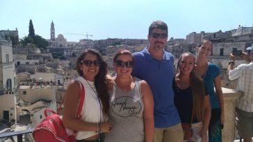 gruppo turisti americani e Imma